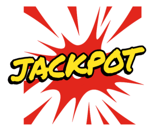 Jackpot with explosion in the background