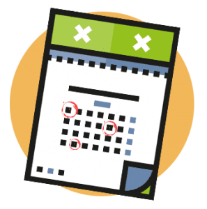 Calendar for horse racing events