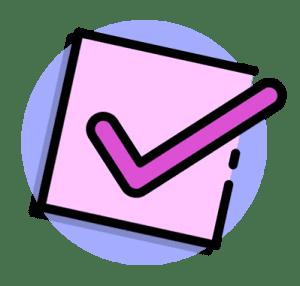 Pink Checkmark